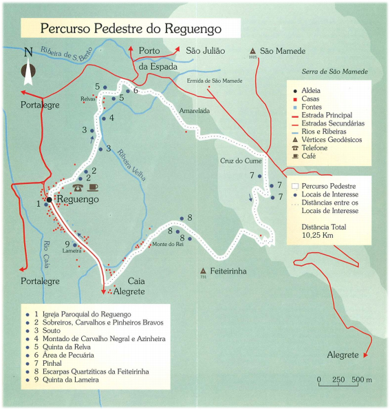 Mapa Percurso Pedestre do Reguengo